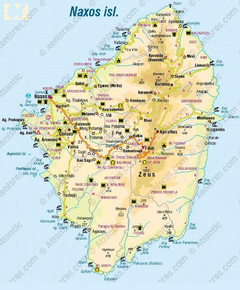 Paros Island Map